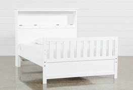 Taylor White Full Bookcase Bed