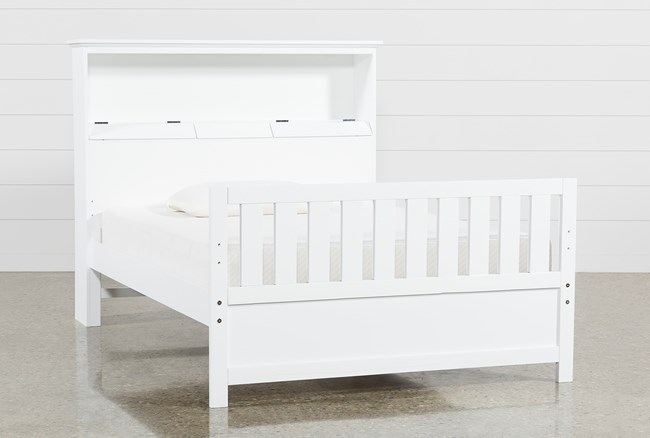 Taylor White Full Bookcase Bed - 360
