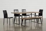 Cintra 6 Piece Dining Set W/Hayden Black Chairs - Signature