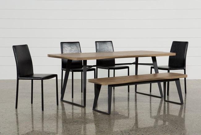Cintra 6 Piece Dining Set W/Hayden Black Chairs - 360