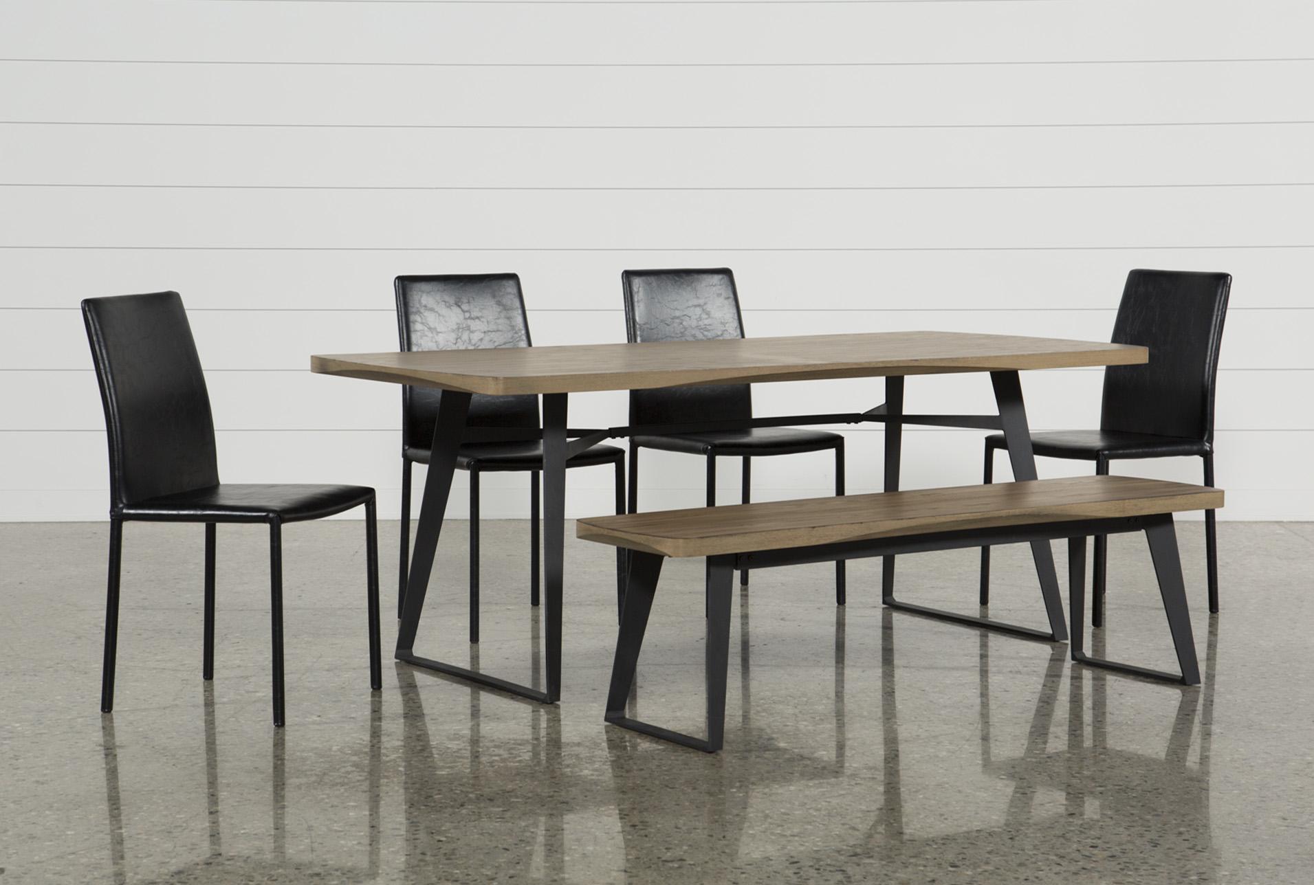 Cintra 6 Piece Dining Set W/Hayden Black Chairs   360