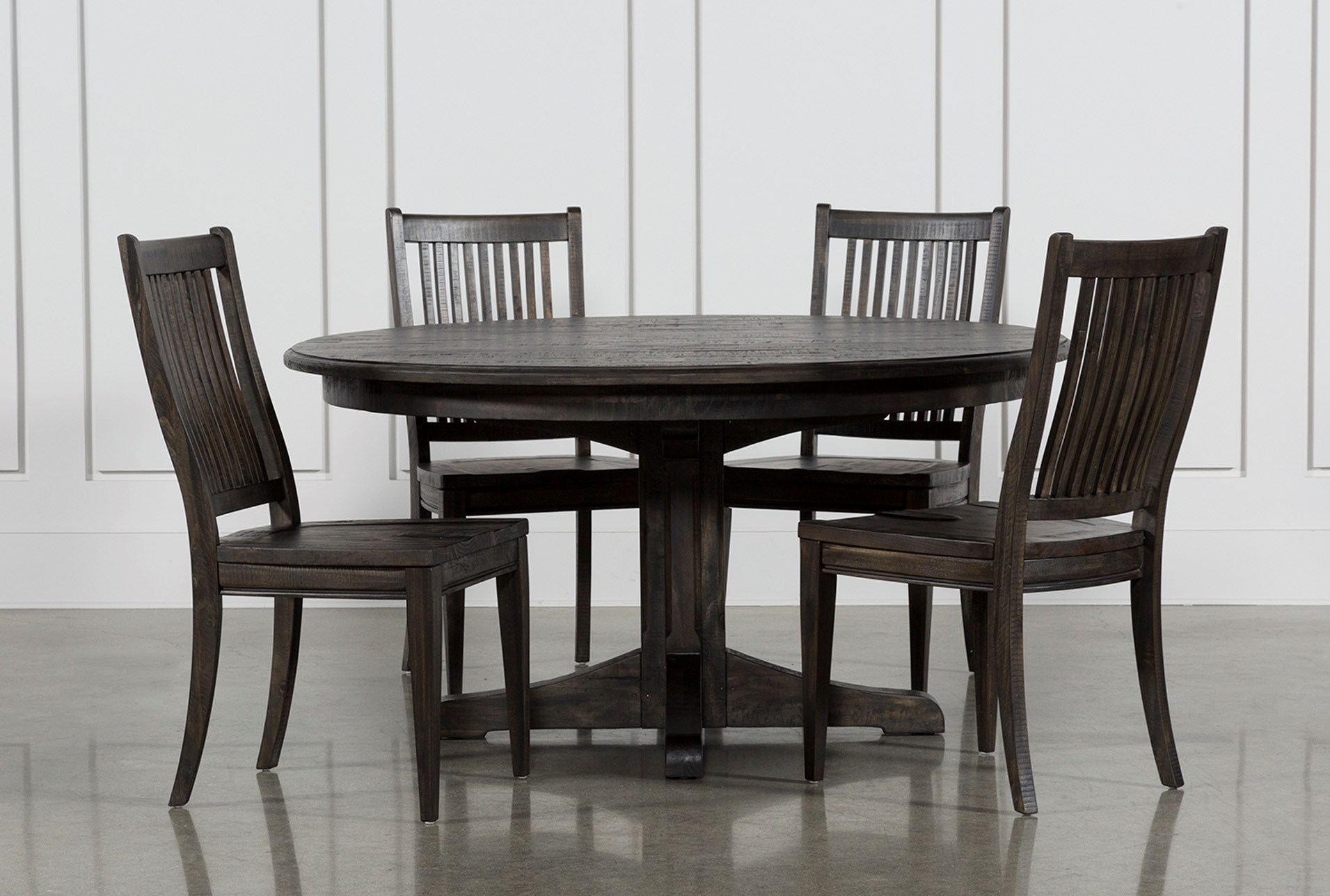 Valencia Piece Inch Round Dining Set Living Spaces - 60 inch round dining room table sets
