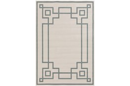 27X54 Outdoor Rug-Greek Key Border Sage