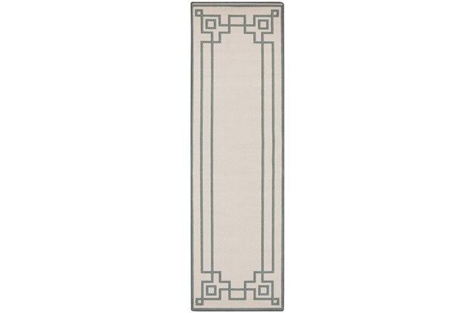 27X93 Outdoor Rug-Greek Key Border Sage - 360
