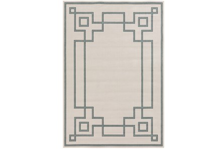 42X66 Outdoor Rug-Greek Key Border Sage