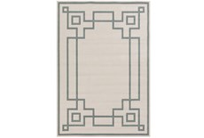90X129 Outdoor Rug-Greek Key Border Sage