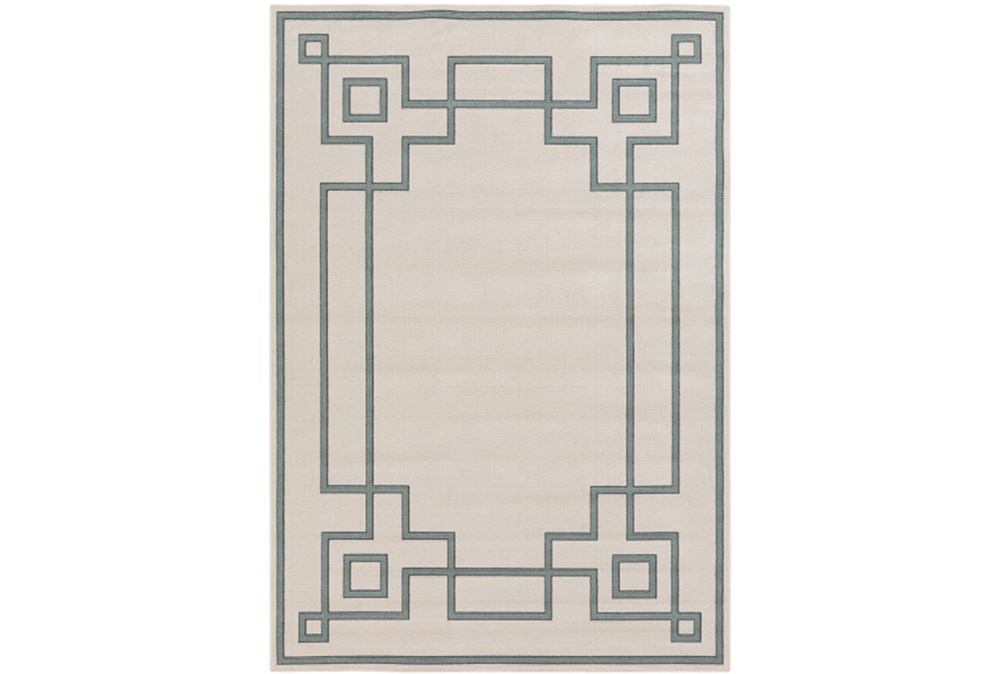 "8'7""x12'7"" Outdoor Rug-Greek Key Border Sage"