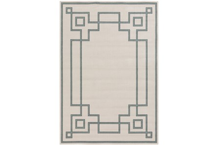 105X153 Outdoor Rug-Greek Key Border Sage