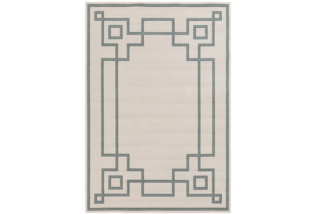 105X153 Outdoor Rug-Greek Key Border Sage - 360