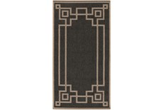 27X141 Outdoor Rug-Greek Key Border Black