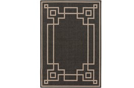 63X90 Outdoor Rug-Greek Key Border Black