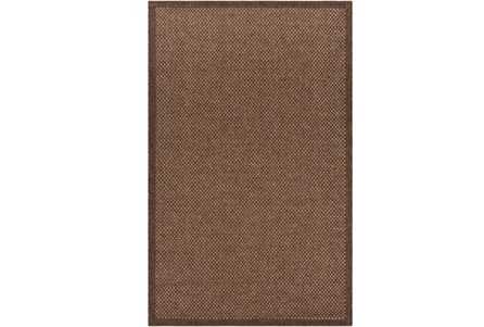 24X36 Outdoor Rug-Mylos Check Dark Brown/Camel