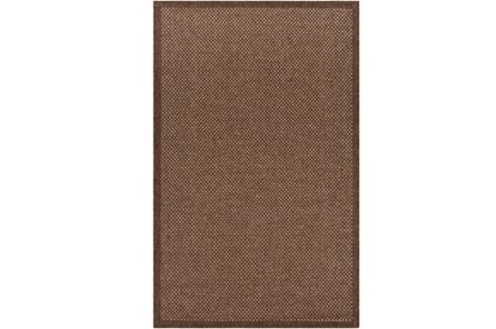60X90 Outdoor Rug-Mylos Check Dark Brown/Camel