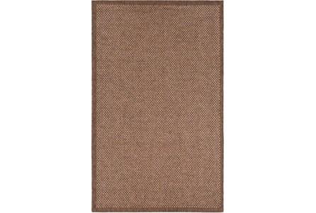 24X36 Outdoor Rug-Mylos Check Brown/Camel