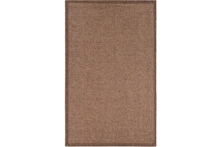 24X36 Outdoor Rug-Mylos Check Brown/Camel