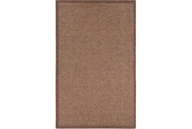 24X36 Outdoor Rug-Mylos Check Brown/Camel - 360
