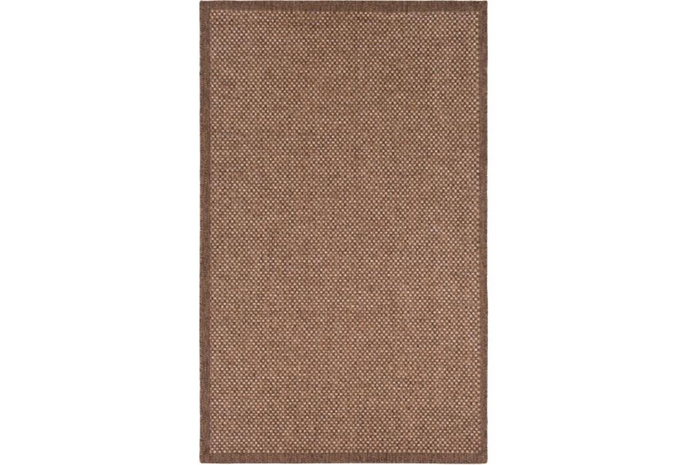 60X90 Outdoor Rug-Mylos Check Brown/Camel