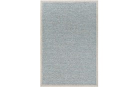 24X36 Outdoor Rug-Mylos Check Light Grey/Blue