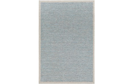 24X36 Outdoor Rug-Mylos Check Light Grey/Blue - Main