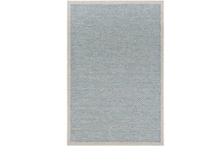 24X36 Outdoor Rug-Mylos Check Light Grey/Blue