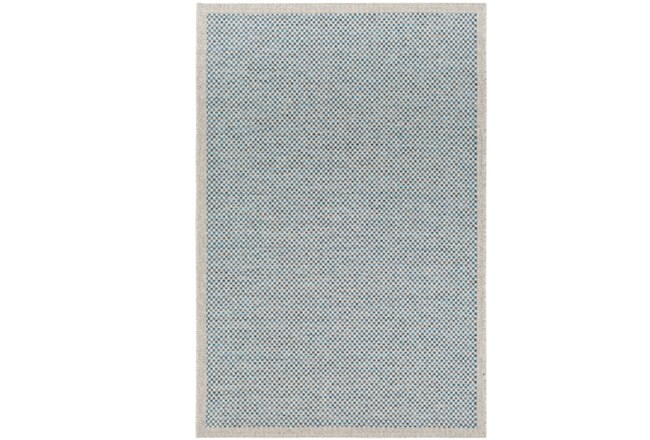24x36 Outdoor Rug Mylos Check Light Greyblue Living Spaces