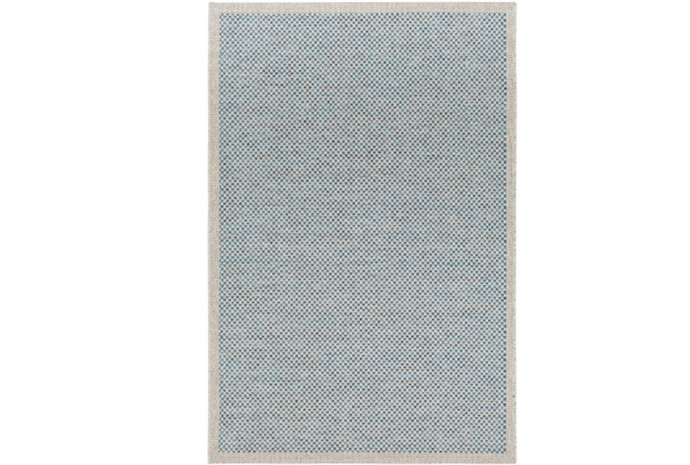 60X90 Outdoor Rug-Mylos Check Light Grey/Blue