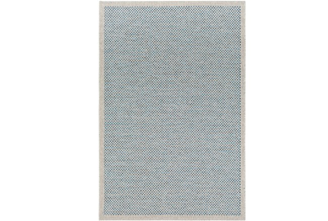 60X90 Outdoor Rug-Mylos Check Light Grey/Blue - 360