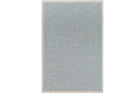94X123 Outdoor Rug-Mylos Check Light Grey/Blue