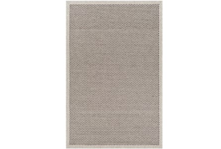 24X36 Outdoor Rug-Mylos Check Light Grey/Black