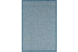 24X36 Outdoor Rug-Mylos Check Blue/Grey