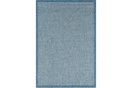 24X36 Outdoor Rug-Mylos Check Blue/Grey