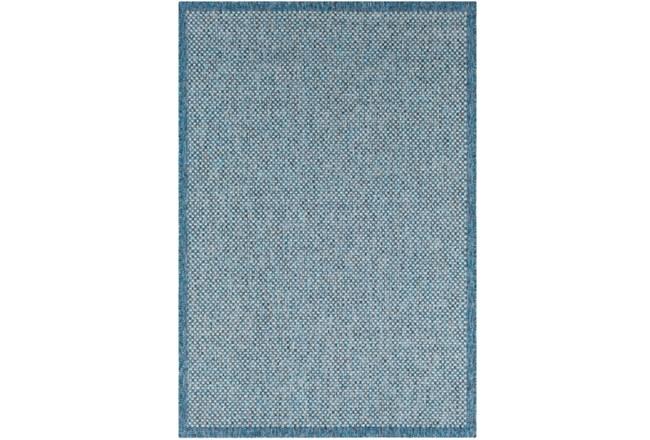 24X36 Outdoor Rug-Mylos Check Blue/Grey - 360
