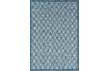 94X123 Outdoor Rug-Mylos Check Blue/Grey - Main