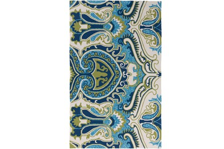 60X90 Outdoor Rug-Surat Aqua/Green - Main