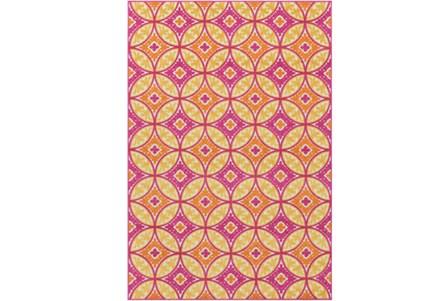 24X36 Outdoor Rug-Kaleidoscope Pink/Saffron