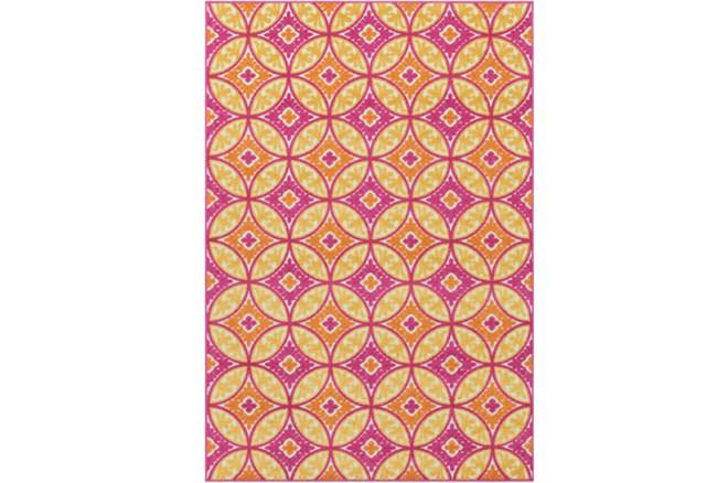 24X36 Outdoor Rug-Kaleidoscope Pink/Saffron - 360