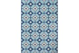 63X87 Outdoor Rug-Kaleidoscope Aqua/Dark Blue - Signature