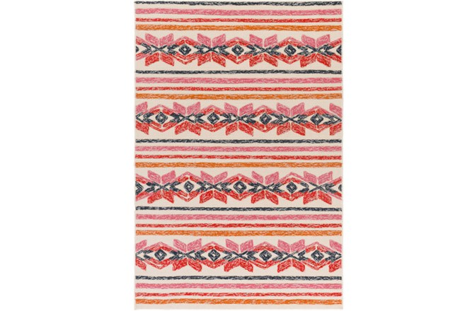 24X36 Outdoor Rug-Yucatan Pink/Red - 360