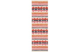 30X96 Outdoor Rug-Yucatan Pink/Red