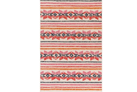 96X120 Outdoor Rug-Yucatan Pink/Red