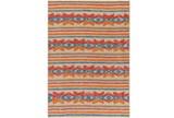 60X90 Outdoor Rug-Yucatan Orange/Blue - Signature