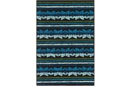 48X72 Outdoor Rug-Yucatan Blue/Black