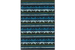 60X90 Outdoor Rug-Yucatan Blue/Black