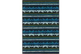 96X120 Outdoor Rug-Yucatan Blue/Black