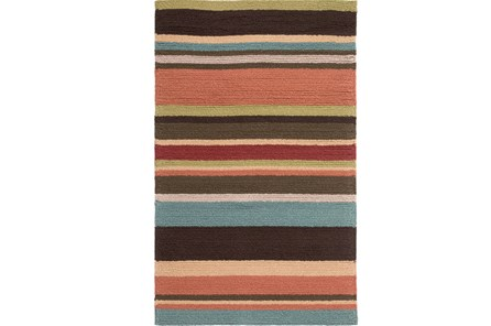 24X36 Outdoor Rug-Montego Stripe Multi