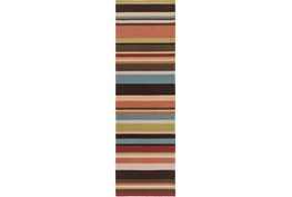 30X96 Outdoor Rug-Montego Stripe Multi