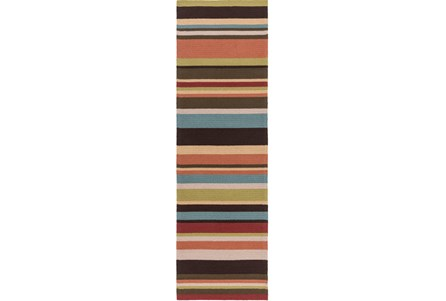 30X96 Outdoor Rug-Montego Stripe Multi