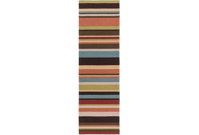 30X96 Outdoor Rug-Montego Stripe Multi - 360
