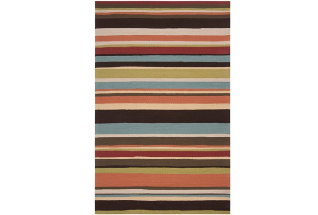 60X96 Outdoor Rug-Montego Stripe Multi - 360