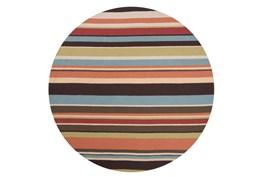 96 Inch Round Outdoor Rug-Montego Stripe Multi